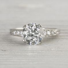 Image of 1.78 Carat Vintage Tiffany & Co. Engagement Ring. Vintage Tiffany...this is perfection