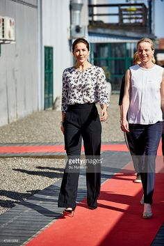 Crown Princess Mary of Denmark at the Maternity Foundations jubilee and the launch of the Safe Delivery App on April 22, 2015, in Copenhagen, Denmark. (Photo by Bo Nymann/Her og Nu via Getty Images)