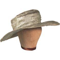 Phenomenal Edwardian Green Crinoline Straw Vintage Wide Brim Hat - Phenomenal Edwardian Green Crinoline Straw Vintage Wide Brim Hat