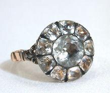 Superb Paste Cluster Ring c. 1760