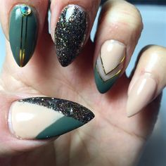 Image result for GREEN KHAKI NAILS