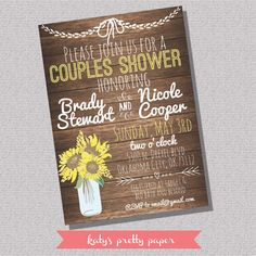 Hey, I found this really awesome Etsy listing at https://www.etsy.com/listing/227283662/printable-rustic-couples-wedding-shower