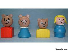 1967 Goldilocks and The Three Bears -Vintage Fisher Price Little People
