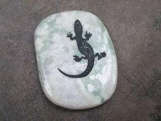 Lizard Ocean Jasper Gemstone Crystal Palm Stone