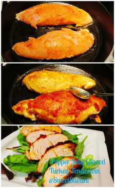 Turkey tenderloin is the most tender part of the turkey breast (but I guess you figured that out already).Massaged with a smokey spice rub and glazed with flavorful sweet pepper jelly, it's good stuff, you should try it. Pepper Jelly Glazed Turkey Tenderloin I cooked the tenderloin in a cast iron pan but a non …Continue Reading...