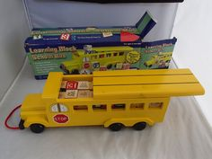 Books Are Fun Learning Block Wooden School Bus 3 & Up A Puzzle And Game Company #BooksAreFun