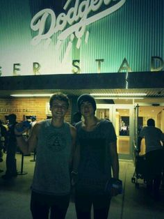 Cashton on the Dodgers game last night << I'm going on Sunday! Couldn't they have wait just a few more days?!