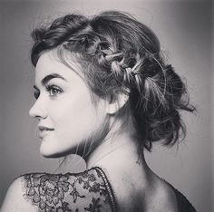 Braids for short hair | via Lucy Hale