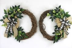 Excited to share this item from my shop: Double Door Farmhouse Wreaths, Double Door Rustic Grapevine Wreath With Burlap And Buffalo Plaid Bow, Rustic Wreath For Double Doors Double Door Wreaths, Summer Door Wreaths, Christmas Door Wreaths, Greenery Wreath, Grapevine Wreath, Burlap Wreath, Farmhouse Fall Wreath, Rustic Farmhouse, Country Wreaths