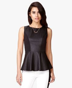 Faux Leather Peplum Top | FOREVER 21 - 2047932177