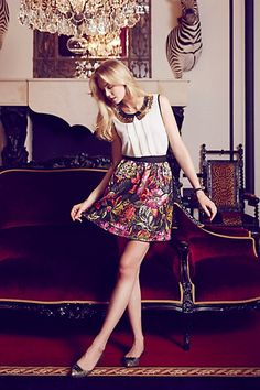 Brocade Bloom Skirt