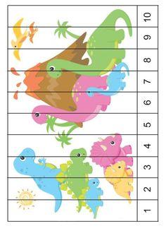 Professora Tati Simões Dinosaur Theme Preschool, Dinosaur Puzzles, Dinosaur Activities, Dinosaur Crafts, Free Preschool, Preschool Themes, Preschool Activities, Activities For Kids, Kindergarten Math Worksheets