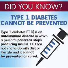 Let's raise awareness that Type 1 is not caused by eating too much sugar!  Some warning signs are: increase in thirst, appetite, and urination, possible weight loss, less energy/fatigue.