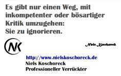 http://www.nielskoschoreck.de  #Kritik