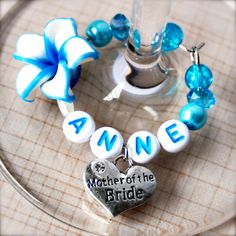 #wedding #wine #charms - Blue Frangipani Wedding Heart Deluxe « Winky's Widgets | Wine Charms + Event Accessories