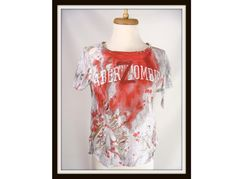 OOAK Custom Made aberZombie Bloody Zombie T-Shirt Halloween Costume Girls Large Women's Small or XS by wardrobetheglobe, $35.00