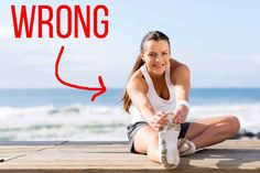 Don't stretch like this before a workout.