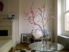 i love flowering tree branches inside