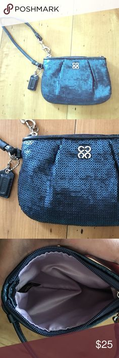 Coach sequin wristlet! Beautiful Coach sequin wristlet! Only used once! Please message with any questions :-) Coach Bags Clutches & Wristlets