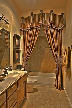 If you are having difficulty making a decision about a home decorating theme, tuscan style is a great home decorating idea. Many homeowners are attracted to the tuscan style because it combines sub… Custom Shower Curtains, Bathroom Shower Curtains, Hall Bathroom, Bathroom Ideas, Elegant Shower Curtains, Custom Drapes, Tuscan Decorating, Interior Decorating, Decorating Ideas