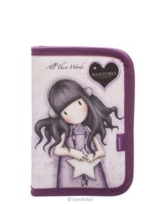 Empty Pencil Case with 2 Flaps - All These Words, Santoro's Gorjuss Santoro London, Couture, Lunch Box, Greeting Cards, Pencil, Words, Disney Characters, Anime, Empty