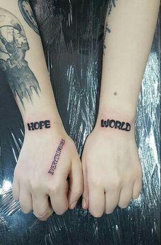 hope world tattoo everythingoes tattoo hope world tattoo everythingoes tattoo Kpop Tattoos, Army Tattoos, Mini Tattoos, Body Art Tattoos, Small Tattoos, Tatoos, Modern Tattoos, Aesthetic Tattoo, World Tattoo