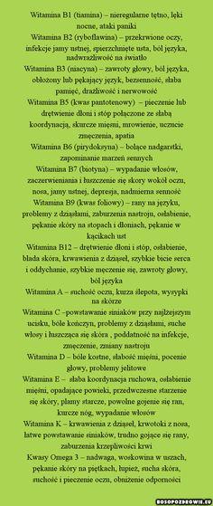 Objawy niedoborów witamin - Boso po zdrowie - fakty o zdrowiu