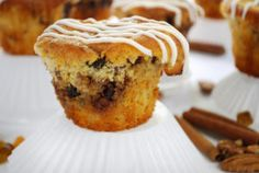 pThese muffins, using an old-fashioned coffee cake recipe, are tender with the perfect amount of sweet raisin and nut filling. Baked Pancakes, Gluten Free Pancakes, Gluten Free Treats, Gluten Free Baking, Gluten Free Desserts, Muffin Recipes, Baking Recipes, Cake Recipes, Gf Recipes
