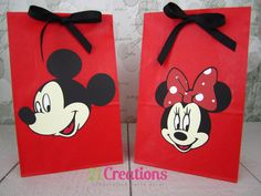 Mickey and Minnie Mouse Treat Bags  set of 10 by 21Creations, $12.00