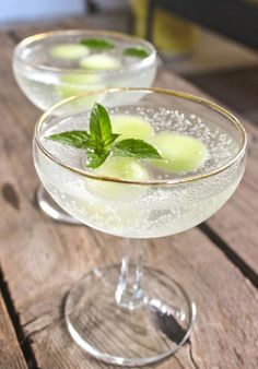 Recipe: Melon, Mint & Prosecco Cocktail — The 10-Minute Happy Hour