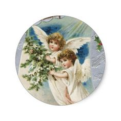 Natal vintage dos anjos do anjo