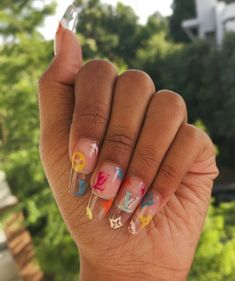Image in GHetto Nails Discovered by Quo. Find images and videos about nails, nail art and designer on We Heart It - the app to get lost in what you Best Acrylic Nails, Acrylic Nail Designs, Nail Swag, Aycrlic Nails, Hair And Nails, Matte Nails, Milky Nails, Ghetto Nails, Fire Nails