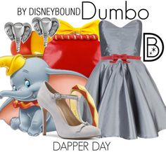Disney Bound: Dumbo from Disney's Dumbo (Dapper Day Outfit) Disney Character Outfits, Disney Themed Outfits, Disney Inspired Fashion, Character Inspired Outfits, Disney Bound Outfits, Disney Fashion, Dapper Day Outfits, Cute Outfits, Movie Outfits
