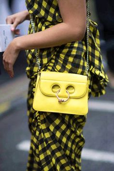 A guest seen wearing a Chloe bag before the Chloe Fashion Show in the streets of Paris during the Paris Fashion Week on September 28 2017 in Paris... #bags