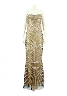 Reem Acra + Art deco  Always a good mix.