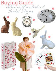 Alice in Wonderland Bridal Shower: Buying Guide
