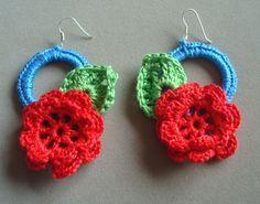 Hand crochetted earrings
