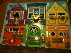 Latches Board: Toys & Games