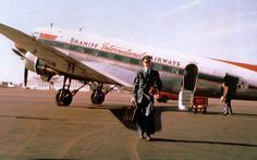 Chicago Midway Airport - Braniff Airways - DC-3