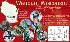 City of Sculpture self-guided tour in Waupun, WI