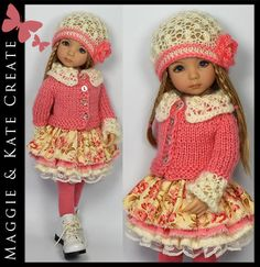 * Coral & Cream * Outfit Little Darlings Dianna Effner 13   Maggie & Kate Create