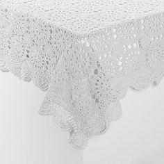 Jeffrey Banks Rectangular Crochet Tablecloth