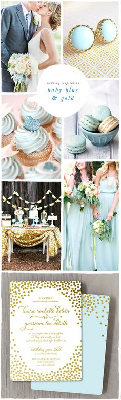 Blue & Gold Wedding Inspiration..cute for a winter wedding