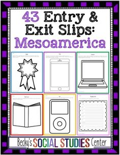 Mesoamerica Unit: 43 Entrance & Exit Slips on the Maya, Aztecs, & Incas - Use this 87 page resource with your 5th, 6th, 7th, or 8th grade classroom and homeschool students. These 43 questions capture student interest and keep them engaged throughout your Ancient World History Social Studies lesson or unit. Perfect for Native American studies in Latin America. Click through to see sample questions. {fifth, sixth, seventh, eighth graders, upper elementary, middle school}