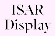 "Bureau Mirko Borsche – Typeface ""Isar Display"""