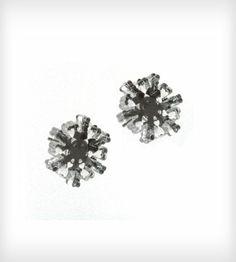 Mirrored Snowflake Stud Earrings | $12