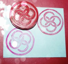 NEW Celtic Circle Rubber Stamp Hand Carved Wedding by PoshBinky, $10.00