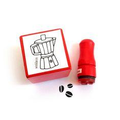 Coffee Klatsch Rubber Stamp Set // Espresso Maker & by winklerin