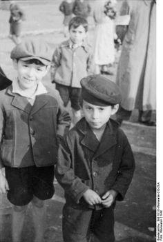 Jewish children in the Radom, Poland ghetto, c.1940.Their faces, dear G-d, their faces....
