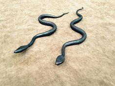 Iron Snake Blacksmith Sculpture Handforged by BurntWhiskerForge